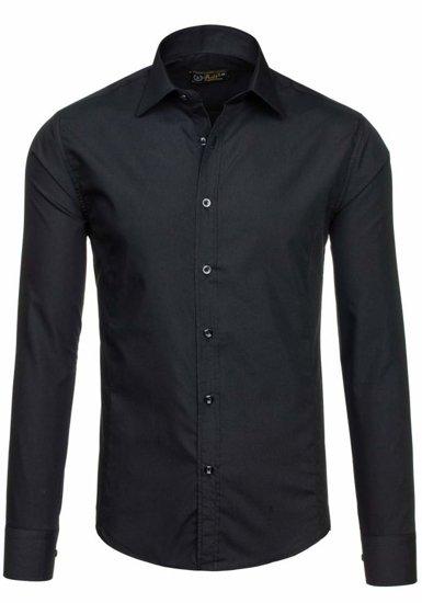 Pánská košile BOLF 1703-2 černá