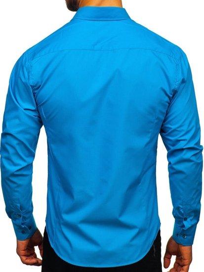 Pánská košile BOLF 1703 tyrkysová