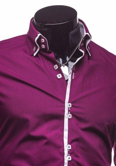 Pánská košile BOLF 1721-1 purpurová