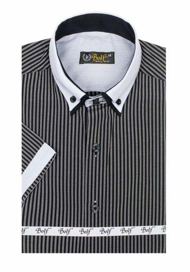 Pánská košile BOLF 1808 černá