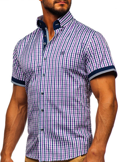 Pánská košile BOLF 4510 fialová
