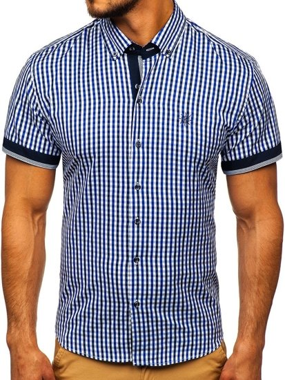 Pánská košile BOLF 4510 královsky modrá