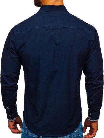 Pánská košile BOLF 4713 tmavě modrá