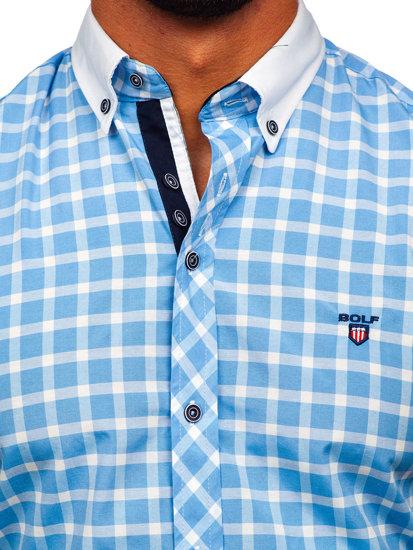Pánská košile BOLF 5531 blankytná