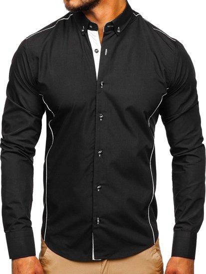 Pánská košile BOLF 5722 černá