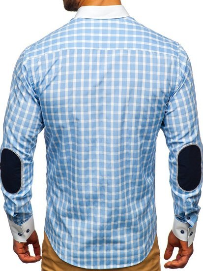 Pánská košile BOLF 5737 blankytná