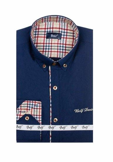 Pánská košile BOLF 5747-1 tmavě modrá