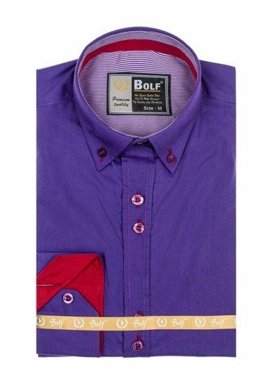 Pánská košile BOLF 5819 fialová