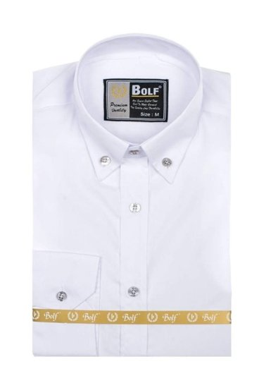 Pánská košile BOLF 5821 bílá