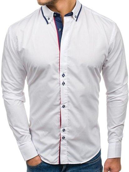Pánská košile BOLF 6857 bílá cafe9ccf2a