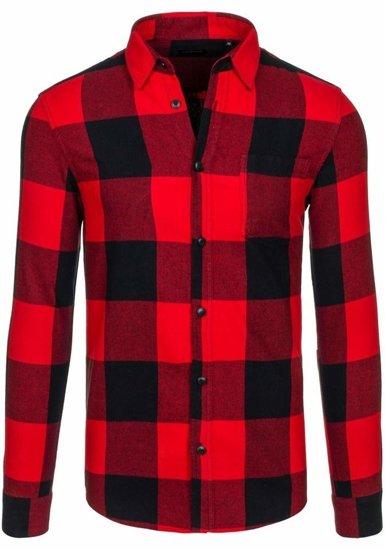 Pánská košile LOUIS PLEIN 7201 červená