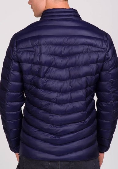 Pánská tmavě modrá přechodná bunda Bolf 3082