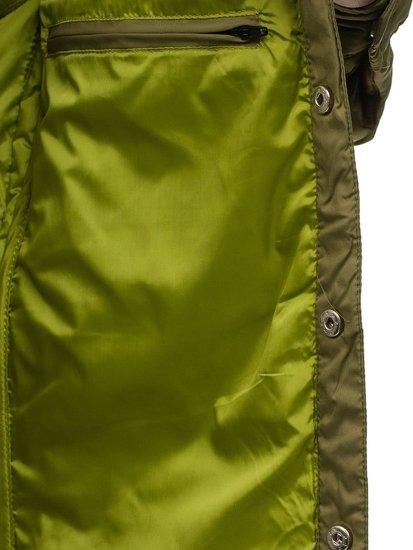 Pánská zelená přechodná bunda Bolf 5004