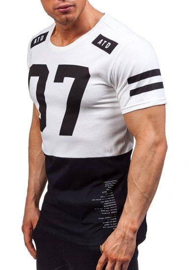 Pánské bílé tričko s potiskem Bolf 1942