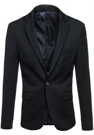 Pánské černé elegantní sako Bolf 001