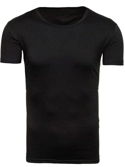 Pánské černé tričko bez potisku Bolf 2006