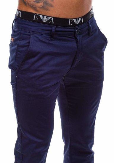 Pánské chino kalhoty JEEL 1557 tmavě modré