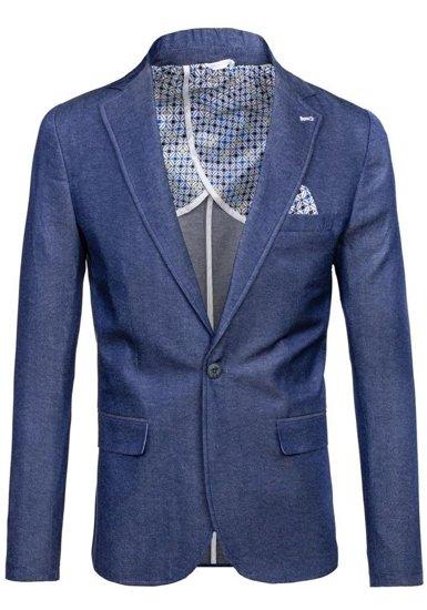 Pánské modré sako casual Bolf 074