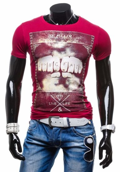 Pánské tričko TMK 1322 bordové
