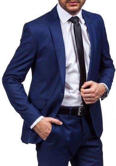 Pánský tmavě modrý oblek Bolf 5005-2