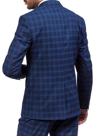 Pánský tmavě modrý oblek Bolf 5005-4