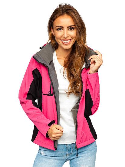 Růžová dámská přechodová softshellová bunda Bolf 3077