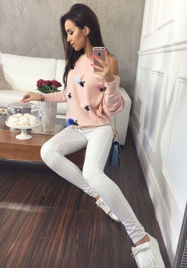 Růžový dámský svetr Bolf 644