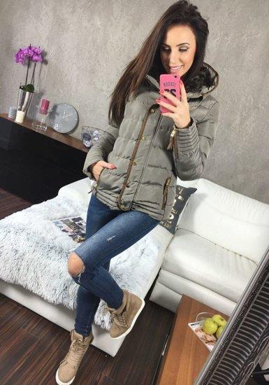 Šedá dámská zimní bunda Bolf 16