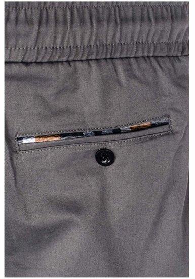 Šedé pánské jogger kalhoty Bolf 0449