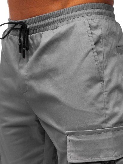 Šedé pánské jogger kapsáče Bolf 701