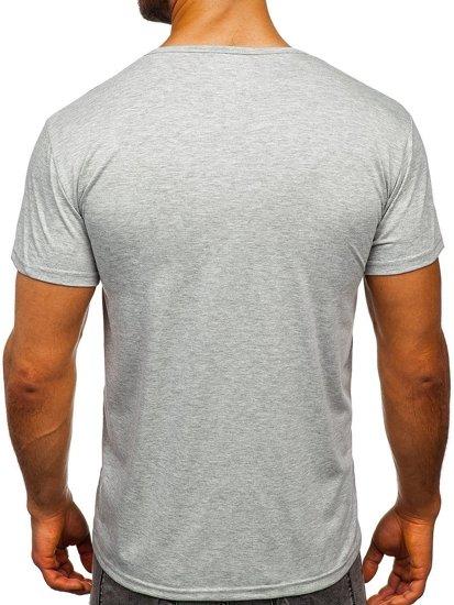 Šedé pánské tričko s potiskem Bolf KS1943T