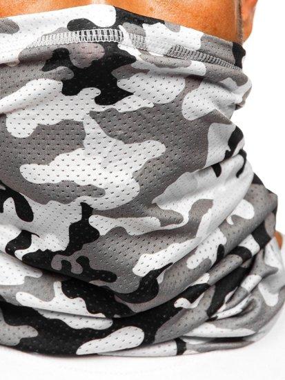 Šedý pánský maskáčový šátek Bolf YW0507M