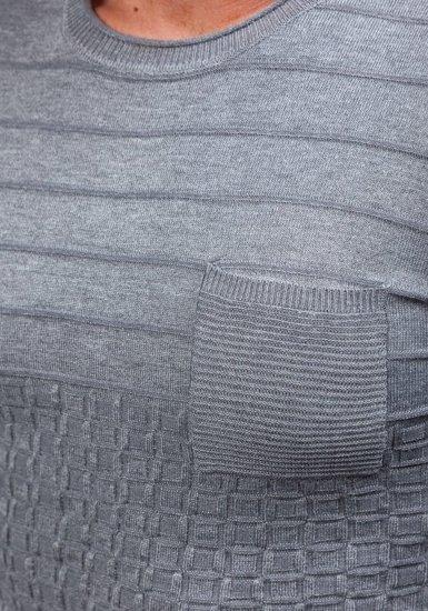Šedý pánský svetr Bolf 2028