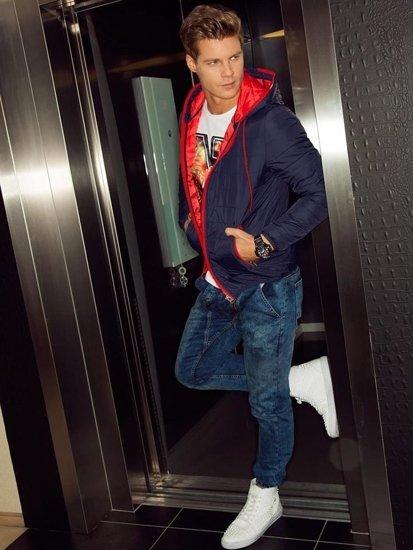 Stylizace č. 103 - přechodná bunda, tričko s dlouhým rukávem a potiskem, džíny, obuv