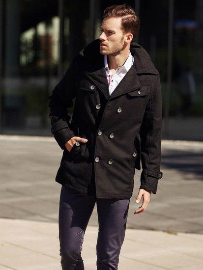 Stylizace č. 314 - zimní kabát, košile, chino kalhoty
