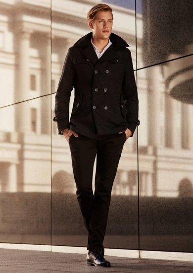 Stylizace č. 67 - kabát, košile, chino kalhoty