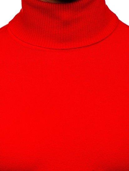 Světle červený pánský rolák bez potisku Bolf YY02