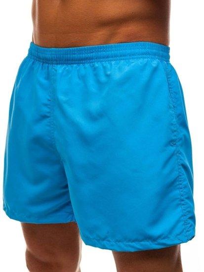 Světle modré pánské koupací šortky Bolf Y769