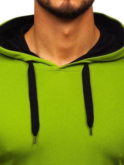 Světle zelená pánská mikina s kapucí Bolf 145380