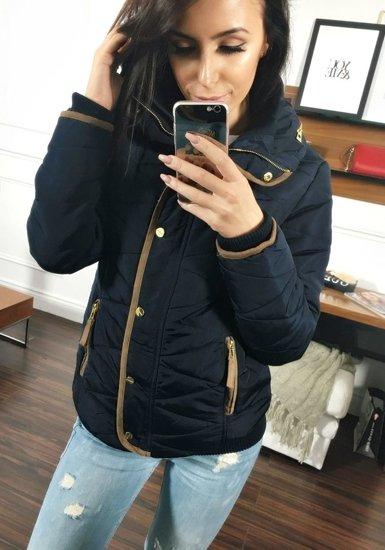 Tmavě modrá dámská zimní bunda Bolf 22