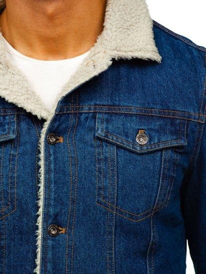 Tmavě modrá pánská džínová bunda Bolf 1109