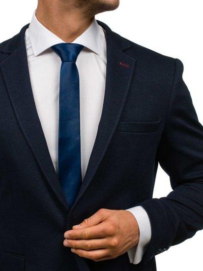 Tmavě modrá pánská elegantní kravata Bolf K001
