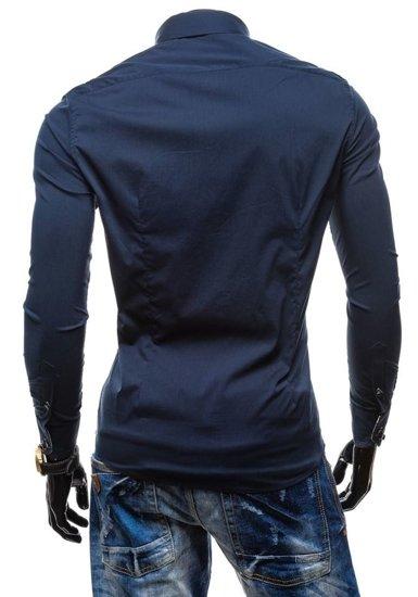 Tmavě modrá pánská košile Bolf 7180