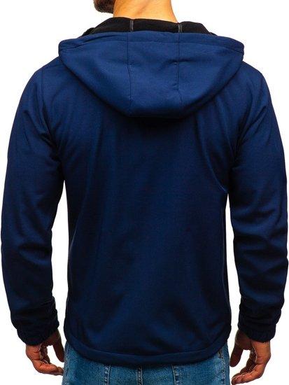 Tmavě modrá pánská softshellová bunda Bolf 56005