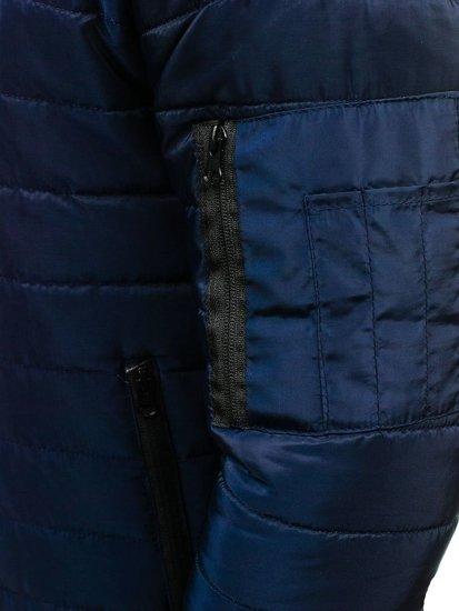 Tmavě modrá pánská sportovní přechodová bunda Bolf AK78