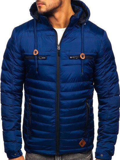 Tmavě modrá pánská sportovní zimní bunda Bolf 50A94