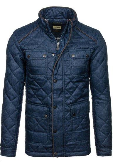 Tmavě modrá pánská zimní bunda Bolf 019