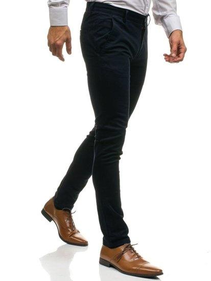 Tmavě modré pánské chino kalhoty Bolf HO7