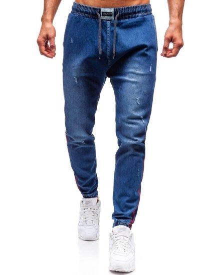 Tmavě modré pánské džínové jogger kalhoty Bolf 2053