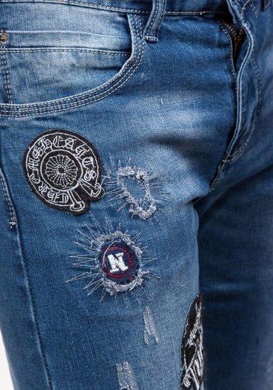 Tmavě modré pánské džíny Bolf 1680